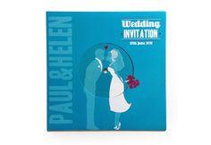 Paul & Helen wedding invite by Daniela Meloni, via Behance