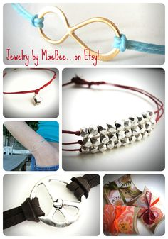 MaeBee Jewelry...the home of hip, laid back bracelets and necklaces from unusual metal findings paired with casual cool leather or linen cords.  Click on the image to see more!