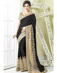 Attractive Black #Saree