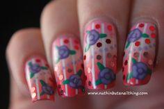 Vintage flower nail art #nailart #nails #nailstagram #bblogger #beauty #nailpolish #manicure #nailpolish #glitter #bling #sparkle #nailit