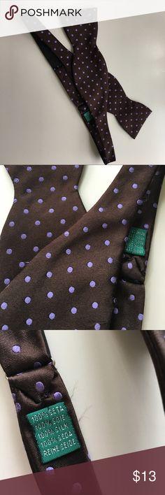 Men's bow tie Silk polkadots. Never worn. Accessories Ties