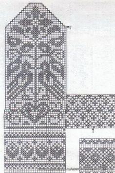 mitten pattern from burda magazine (liveinternet. Knitted Mittens Pattern, Knit Mittens, Knitted Gloves, Knitting Socks, Baby Knitting, Designer Knitting Patterns, Knitting Designs, Knitting Projects, Knitting Charts
