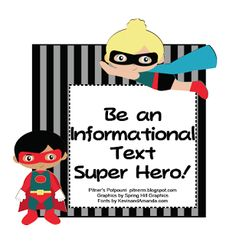 "FREE LANGUAGE ARTS LESSON - ""Be An Informational Text Super Hero!"" - Go to The Best of Teacher Entrepreneurs for this and hundreds of free lessons.   #FreeLesson   #TeachersPayTeachers   #TPT   #LanguageArts  http://thebestofteacherentrepreneurs.blogspot.com/2013/06/free-language-arts-lesson-be.html"