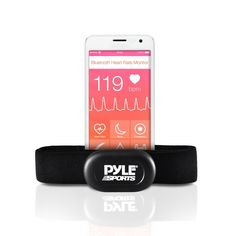 Pyle Bluetooth Smart Heart Rate Sensor for iPhone and Android Phones, Works With Polar ALA Coach and MotiFit Strava Apps Bluetooth LE Sensor * You can find more details by visiting the image link.