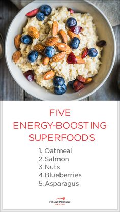 Feeling sluggish? Boost your energy levels with any of these 5 delicious and healthy superfoods!