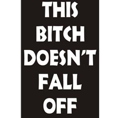 Women's Biker Shirts | Funny Shirts | Bitch Doesn't Fall Off T-shirt