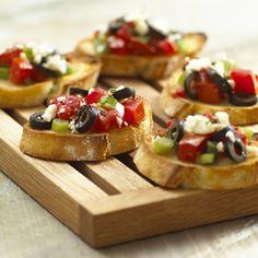 Mediterranean Tomato Bruschetta - California Ripe Olives @California Ripe Olives
