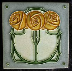 Jugendstil Fliese art nouveau tile Tegel NSTG Drei Rosen top schön chic Motifs Art Nouveau, Azulejos Art Nouveau, Art Nouveau Tiles, Art Nouveau Design, Alphonse Mucha Art, Jugendstil Design, Traditional Tile, Art Ancien, Vintage Tile