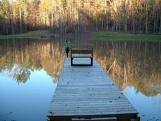 wooden pier on an Alabama lake
