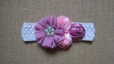 Baby Girl Headband Rose Headband Flower por GloriaMillerCreation