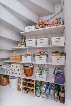 50 Trendy Kitchen Organization Ideas Tips Organisation Home Organisation, Kitchen Organization, Kitchen Storage, Kitchen Decor, Organization Ideas, Pantry Storage, Storage Room, Diy Storage, Bathroom Storage