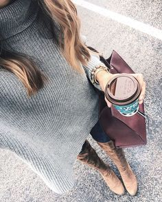 Headed home for the holiday!   A gentleman bought my coffee who was ahead of me in the drive thru - what a daymaker! Definitely paying it forward.  || PS: Taking an outfit selfie with a cozy oversized sweater isn't the easiest task  but this one is seriously one of the best sweaters I've ever owned & it's fully stocked!  Also my jeans are 50% off  free shipping for a limited time - hurry! Shop here:  http://liketk.it/2pGkY @liketoknow.it #liketkit