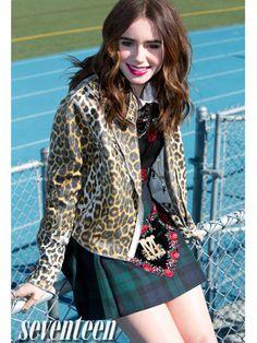 Lily Collins Fala Sobre Kristen Stewart À Seventeen. Collins, que está na capa da edição corrente da revista Seventeen, comentou sobre Kris em sua entrevista dizendo que admira a versatilidade da atriz e a forma como ela lida com o fardo da fama.