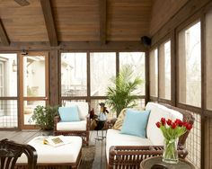 Contemporary Screened Porch Design, Pictures, Remodel, Decor and Ideas - page 3