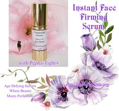 """Nassa M. from MO. """"Unbelievable! I love Cinderella Skin-Tight Serum so much. I am 72 years old & I have never seen such astonishing results. Now I can't live without it"""" Cinderella Skin Tight Firming Serum with Pepha-Tight® is a unique natural tightening and firming active ingredient. It delivers both a fast instant tightening experience and a superior long term skin firming effect. Get your own Face Lift In A Bottle Today! You'll be glad you did. Skin Firming, Face Serum, Skin Tight, Active Ingredient, The Secret, Cinderella, Skin Care, Bottle, Age"""
