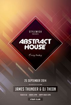 Buy Abstract House Flyer by styleWish on GraphicRiver. Abstract House Flyer Template This flyer template is designed to promote a wide range of nightclub events: a minimal. Woodworking Magazine, Woodworking Plans, Woodworking Projects, Christmas Flyer, After Christmas Sales, Graphic Design Posters, Graphic Design Inspiration, Fashion Show Poster, Happy New Year Background