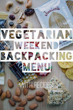 Vegetarian Weekend Backpacking Menu... with recipes! Soba noodles and mac n cheese look good #backpackingvegetarian