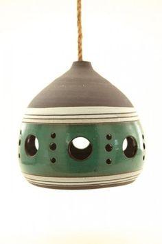 Lamps : Heather Levine Ceramics - or; alternately - funky birdhouses and feeders. Vio~