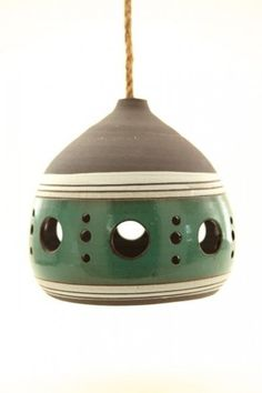 Lamps : Heather Levine Ceramics - or; alternately - funky birdhouses and feeders. Vio~