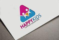 Happy Kids Logo by Josuf Media on Creative Market