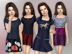 Sims 4 CC's - The Best: Designer Dresses Collection for Girls by Lillka