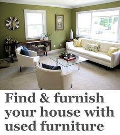 how to find and furnish your house with used furniture (@Jane Rinzema (Jane Pearson) spent just $750 to make this room)