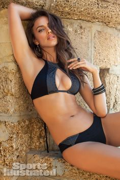 2013 Sports Illustrated Swimsuit. Irina Shayk was photographed by Alex Cayley in Cádiz, Spain. Swimsuit by made by Dawn.