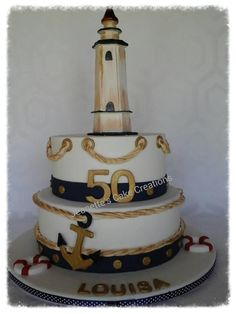 Nautical cake - Cake by Jeanette's Cake Creations and Courses