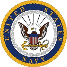 US Navy pantone colors and official Navy Emblem