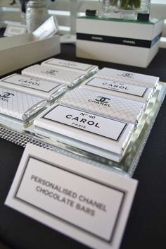 Black & White Chanel theme Birthday Party Ideas | Photo 4 of 17 | Catch My Party