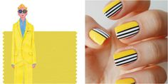 "Nothing says ""spring"" quite like a sunny shade of yellow. Less autumnal than mustard but not quite neon, this bright buttercup color combined with sleek black and white striping is a fun nod to mod.  Get the tutorial at Snobka »  - GoodHousekeeping.com"
