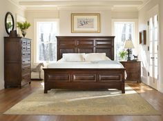 Stickley Benton King Panel Bed | Get the latest styles from Stickley Furniture at the Heritage House Home Interiors locations in Sarasota and Pinellas Park, Florida