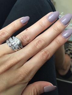Mauve almond shaped nails