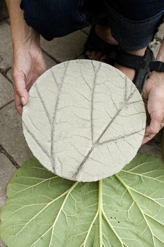 Here's a great way for the kiddos to contribute to the beauty of the backyard. Check out DIY Leaf Imprinted Garden Stepping Stones.