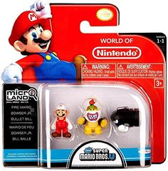 NINTENDO Mario Bros Universe Micro Wave 1: Fire Mario, Bowser Jr. and Bullet Bill Action Figure, 3-Pack Nintendo http://www.amazon.com/dp/B00F40KVNM/ref=cm_sw_r_pi_dp_Lrgsub05H8HAQ