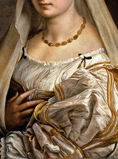 La Donna Velata (Détail) Raphael 1516