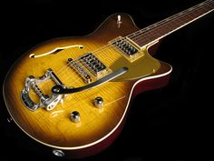 Koll Duo Glide in Light Tobacco Burst - F Hole and Bigsby Upgrades | Humbucker Music