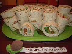 snail tortilla rolls