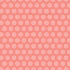 Adorn It Nested Owls Grid Dot Coral Polka Dots Dot Fabric Light Pink on Pink