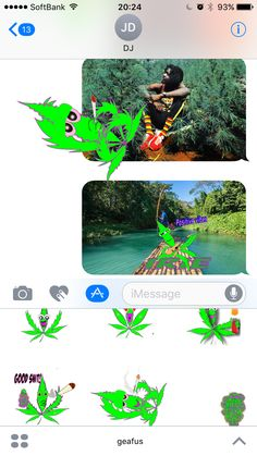 A 420 animated emoji application I made for iMessage. Its pretty neat. be sure to check it out especially if you 420 kushin. #iphone #weed #dab #weedemoji #ganjamoji