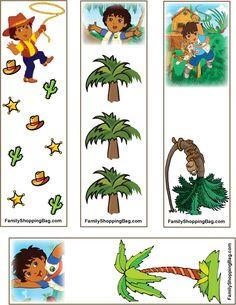 Diego printable bookmarks