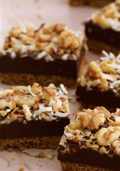 Coconut-Fudge Bars – Rich, chocolaty fudge bars topped with sweet coconut and walnuts? Count us in. Serve these decadent treats to your crowd, and watch as they're the first to disappear.