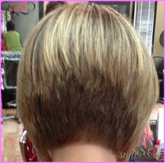 cool Short layered stacked bob haircut pictures