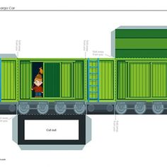 Build your own train Cargo & Freight Cars free printable