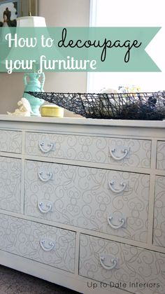 Hello, hello. I just finished up a project yesterday and wanted to share with you my dresser makeover. If you have a piece of furniture that needs a little love but have no desire to paint it, try decoupaging it! I actually did my first decoupage a few years ago. The print is too busy [...]