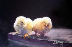 Michel, Quebec, Still Life, Facebook, Painting, Scenery, Baby Chicks, Amigos, Pastel