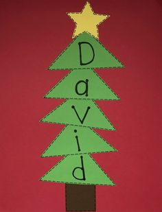 Name Activities - Ms. Stephanie's Preschool - - Name Activities for the Preschool Classroom. Preschool Christmas Crafts, Daycare Crafts, Winter Crafts For Kids, Classroom Crafts, Xmas Crafts, Toddler Crafts, Christmas Projects, Santa Crafts, Preschool Projects