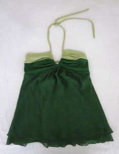Susana Monaco Green Halter Top Cotton Silk size Small