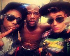 Mayweather-Lil-Wayne-Justin-Bieber.