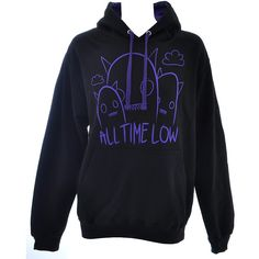 All Time Low Ghostline hoodie - band hoodies - all time low merch UK ($61) ❤ liked on Polyvore